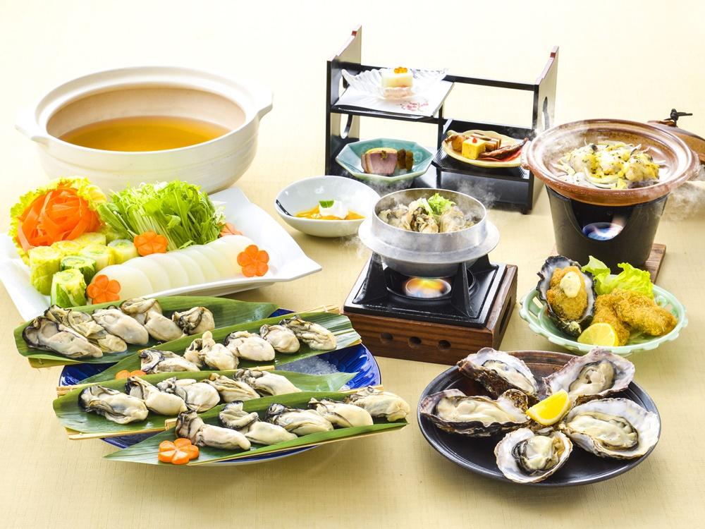 【夕食・朝食付】(飲み放題付)坂越産牡蠣を楽しむ、蒸しガキや釜飯付き『坂越産牡蠣おすすめ御膳』2月迄