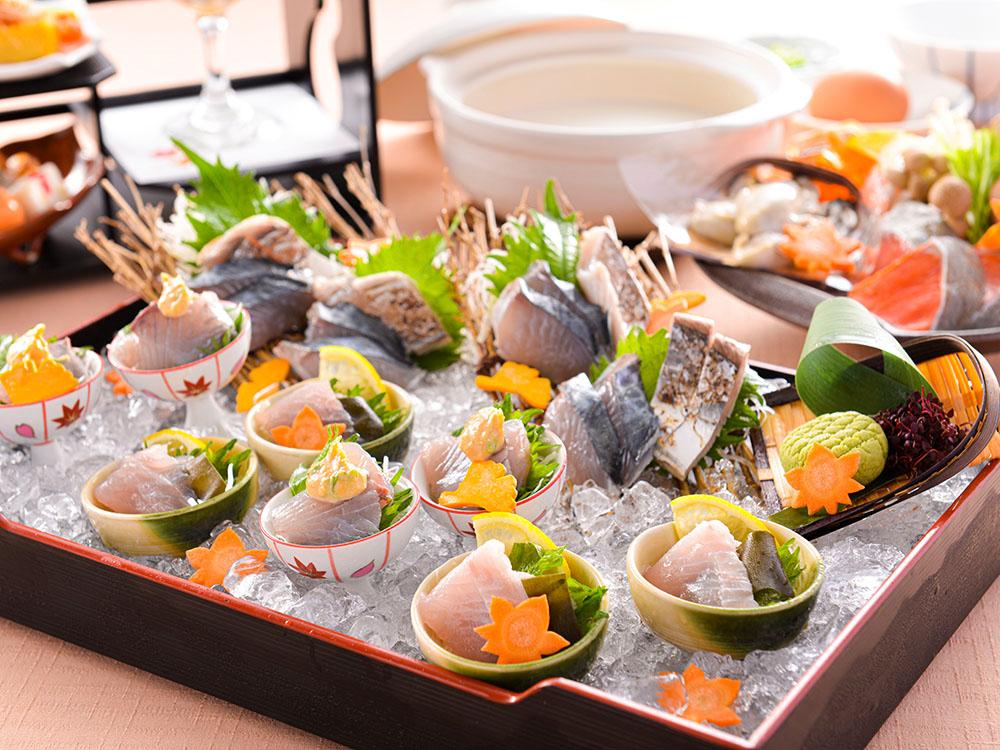【夕食・朝食付】『赤穂産スチーム牡蠣のクリーミー鍋』と『新鮮濃厚播磨灘産鰆のお造り』御膳|11月まで