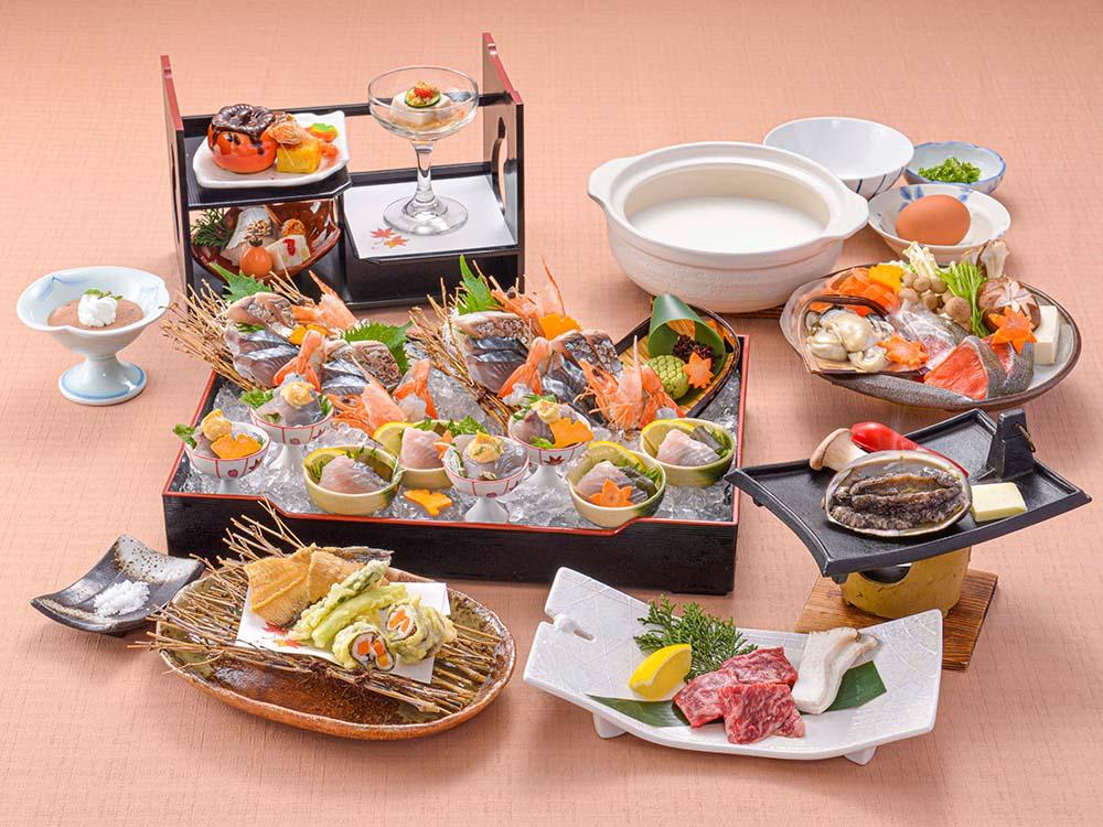 【夕食・朝食付】料理グレードアップ! 鮑と鰈を付けた赤穂産スチーム牡蠣のクリーミー鍋特選御膳|11月