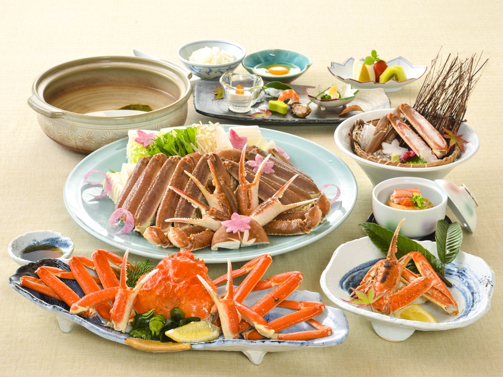 【夕食・朝食付】(飲み放題付)ズワイガニをお楽しみいただける蟹会席|3月迄