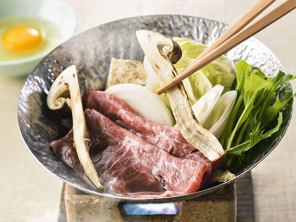 【夕食・朝食付】松茸づくし♪『松茸』と『近江牛みすじ』すきやき特選会席11月5日まで