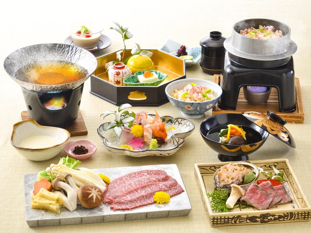 【夕食・朝食付】料理グレードアップ|近江大倉和牛しゃぶしゃぶや鮑ステーキの特撰会席|2月迄