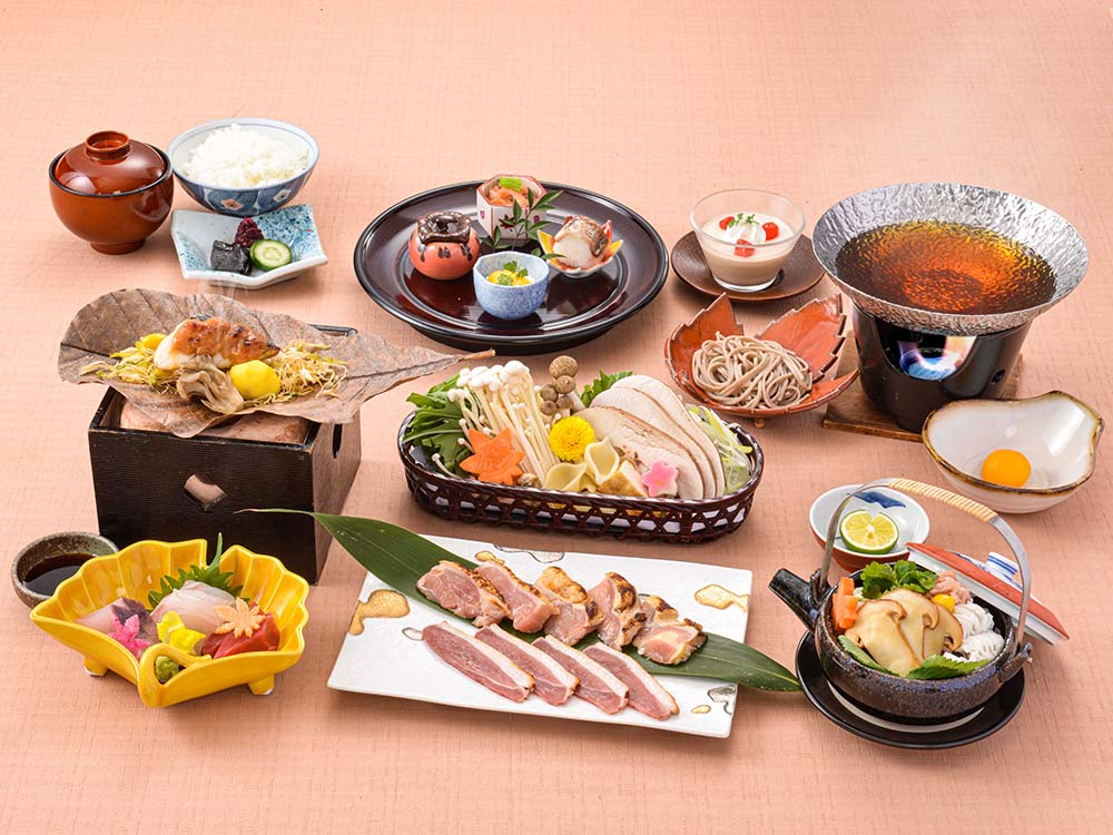 【夕食・朝食付】じぶじぶ煮よう♪『丹波地鶏』と『合鴨のロース』治部煮鍋会席 11月まで