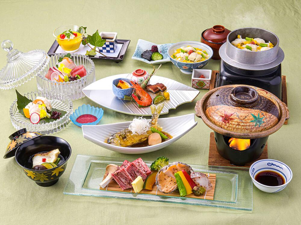 【夕食・朝食付】質にこだわりあり! 『近江大倉和牛』の鉄板焼きや旬の魚介を味わえる特選会席|8月まで