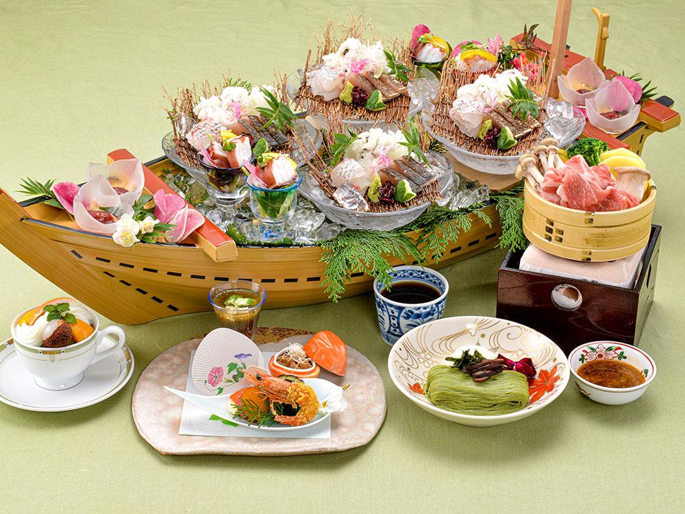 【夕食・朝食付】淡路島の旬を満喫♪ 新鮮お造り盛りとえびすポークせいろ蒸し御膳|8月まで