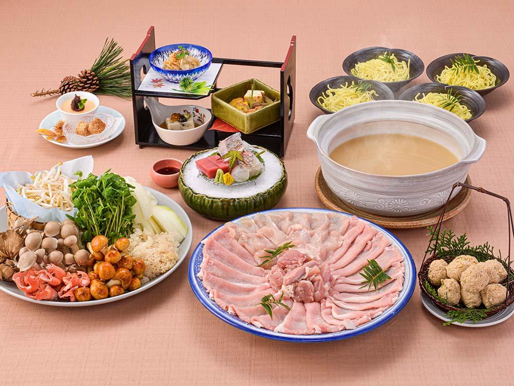 【夕食・朝食付】キノコ香る♪ 淡路島産えびすポークと地鶏の白湯鍋御膳 11月まで