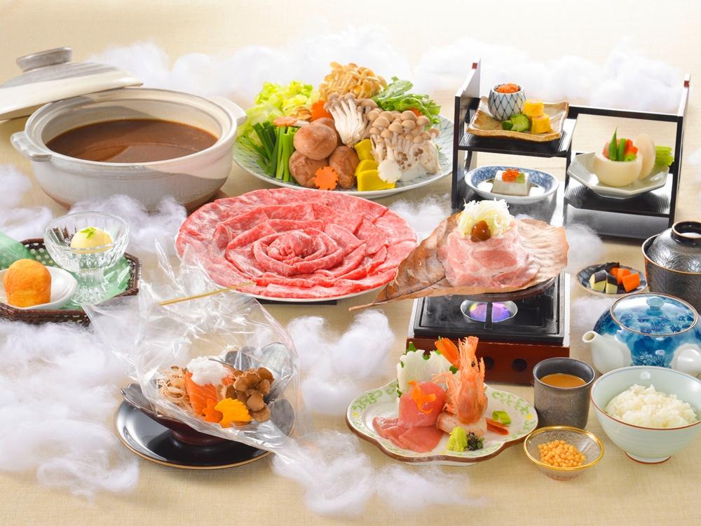 【夕食・朝食付】料理グレードアップ 和牛しゃぶしゃぶ特撰御膳 2月まで