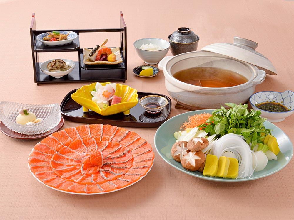【夕食・朝食付】富士の清らかな芝川の水で育った『富士レインボー』しゃぶしゃぶ御膳|11月