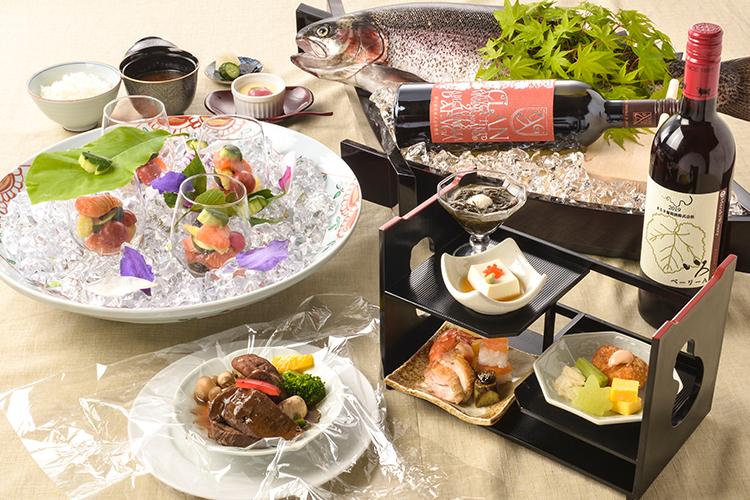 【夕食・朝食付】山梨産勝沼ワインを使った牛タンのカルタファタ包み蒸しがメイン料理の和洋御膳|8月まで