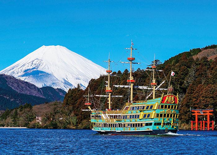 壮麗な富士の山容に、 至福のはじまりを感じる