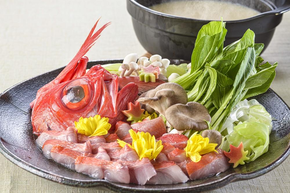 【夕食・朝食付】黒毛和牛陶板焼きと伊豆の金目鯛胡麻味噌鍋のおすすめ御膳 |11月まで