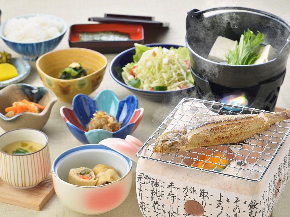 【朝食付】地元産の干物を楽しむ和朝食で1日の始まりを朝食から!