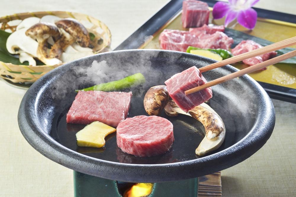 【夕食・朝食付】料理グレードアップ|秋の味覚 松茸付の『秋の京都和牛特選会席』|11月まで