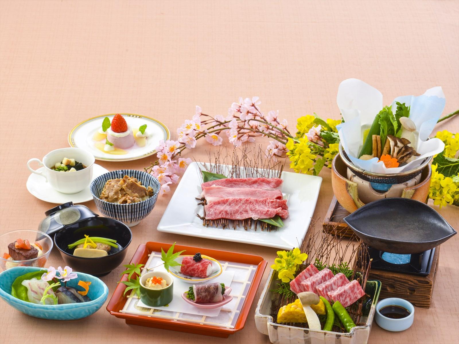 【夕食・朝食付】近江牛のすき焼きや京都牛を使った前菜など京味宴(きょうあじえん)会席|5月まで