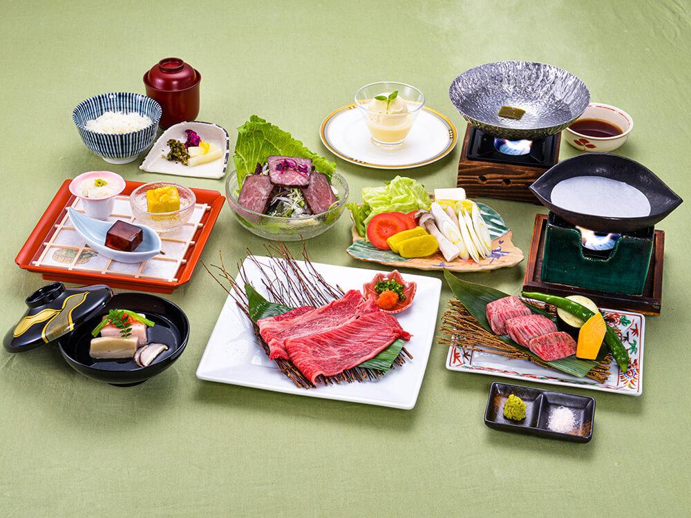 【夕食・朝食付】お肉を食べて夏の暑さを乗り越えよう『夏越(なごし)美ぃ婦しゃぶしゃぶ会席』8月まで