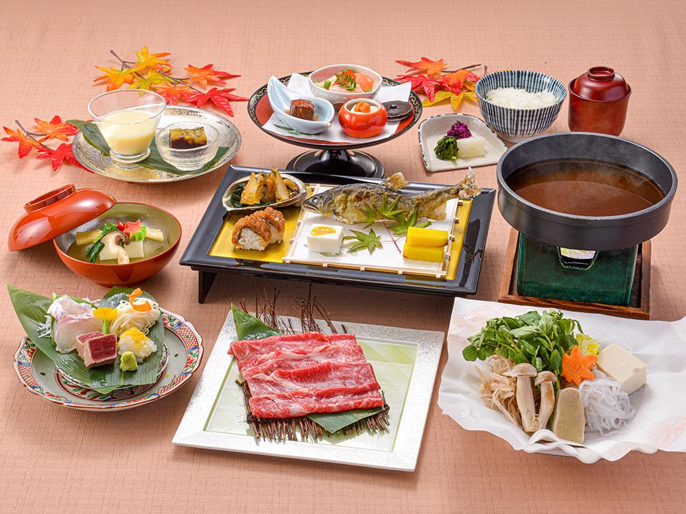 【夕食・朝食付】料理長特製☆ブラックスープの割下で味わう『近江牛』すき焼きおすすめ会席 11月まで