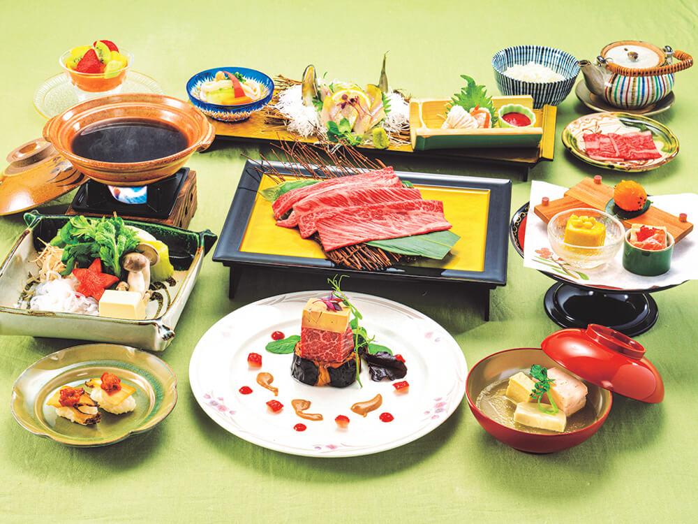 【夕食・朝食付】日本三大和牛『近江牛』と京の夏の食材の饗宴『美ぃ婦特撰会席』8月まで