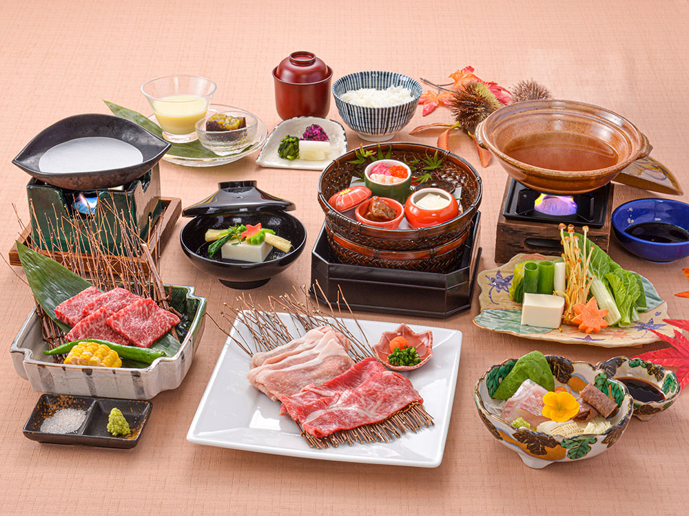 【夕食・朝食付】『近江牛』を沢山味わいたい方、必見☆近江牛フルコース会席|11月まで