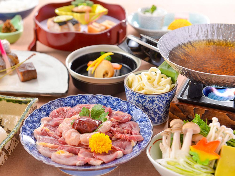 【夕食・朝食付】琵琶湖産食材にこだわった本格会席♪『近江軍鶏水炊き鍋おすすめ会席』 11月まで