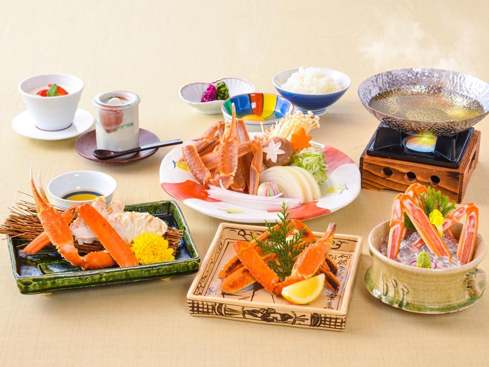 【夕食・朝食付】メイン料理は、お一人様一杯ずつのずわい蟹をお鍋で!蟹好特選御膳|3月迄
