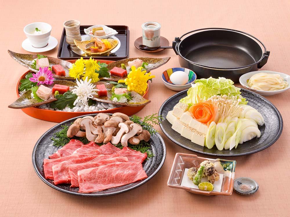 【夕食・朝食付】季節の深い味わい『たっぷり松茸と近江牛のすき焼き』特選御膳|10月迄
