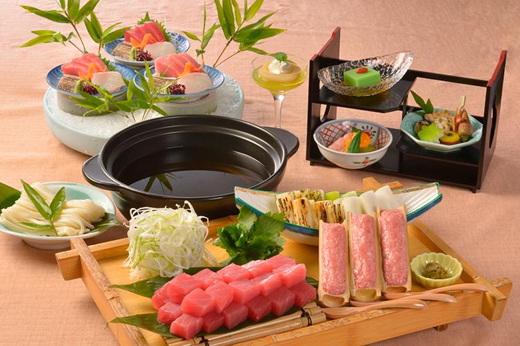 【夕食・朝食付】本マグロ寿司食べ比べにメインは葱鮪(ねぎま)鍋のマグロ尽くしおすすめ御膳 |8月まで
