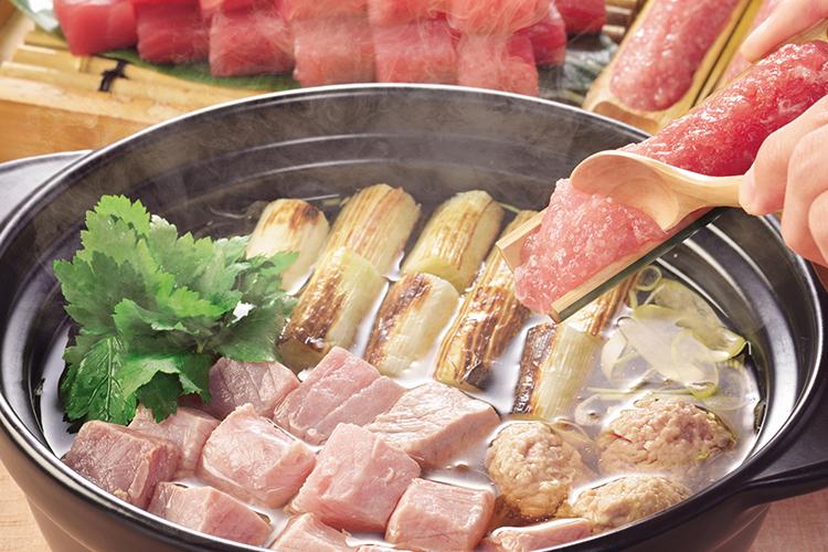 【夕食・朝食付】本マグロ寿司食べ比べにメインは葱鮪(ねぎま)鍋のマグロ尽くしおすすめ御膳  8月まで