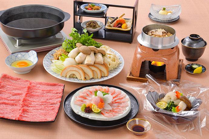【夕食・朝食付】豊かな味と香りの『松茸』を味わう 松茸すきやき特選御膳|11月まで
