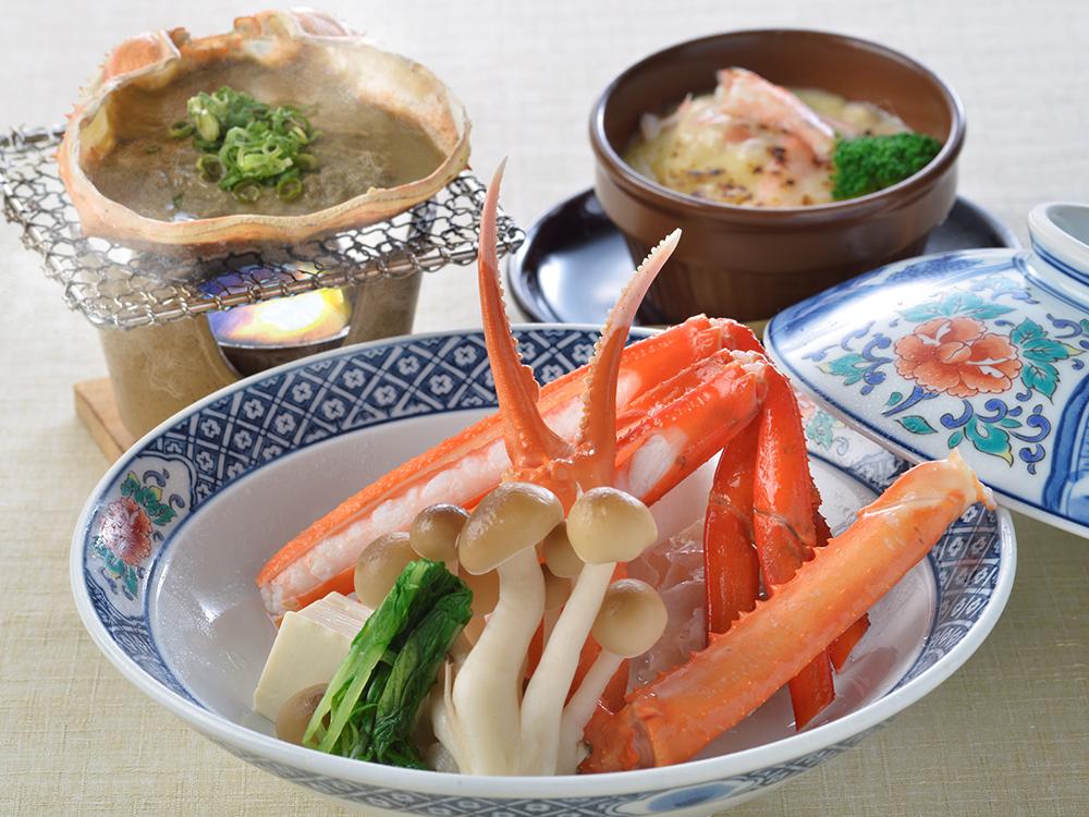 【夕食・朝食付】 蟹尽くし♪(お造、鍋、甲羅焼など)『紅かに特選御膳』11月5日まで
