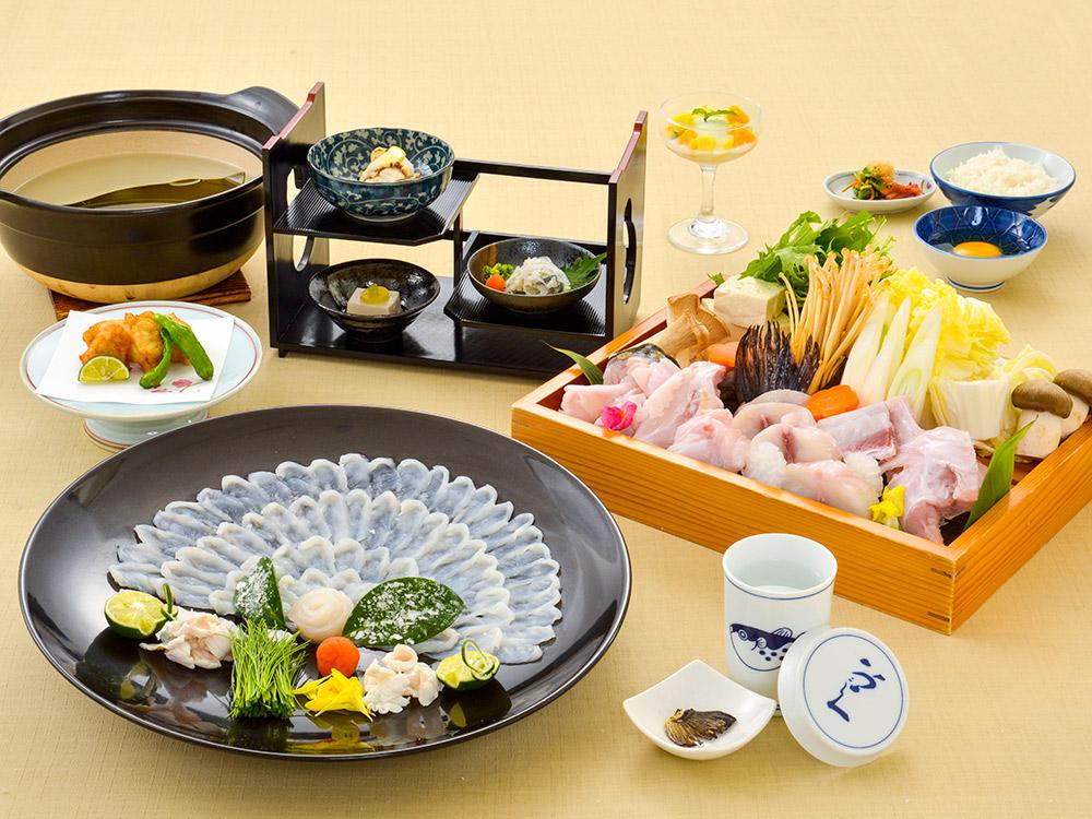 【夕食・朝食付】ふぐ尽くしのふぐ特選御膳|3月まで